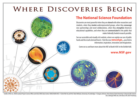 NSF Promotional Card for AAAS Conference